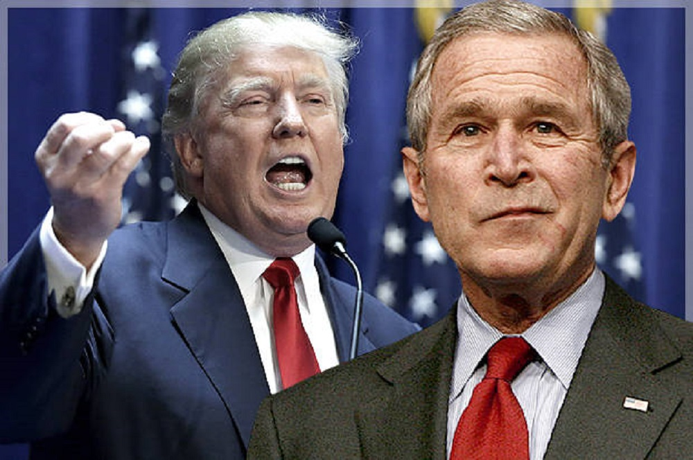 George W. Bush speaks up on Donald Trump 2017 images