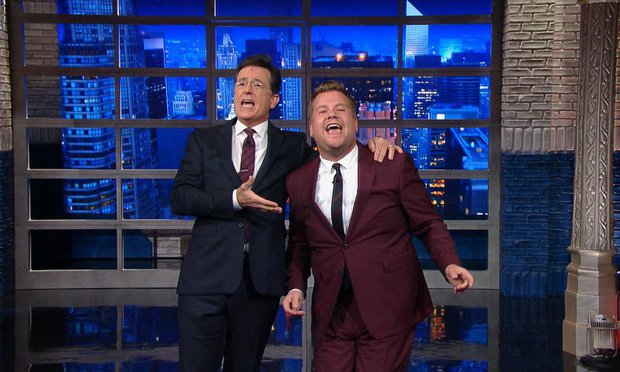 james corden denies colbert claims