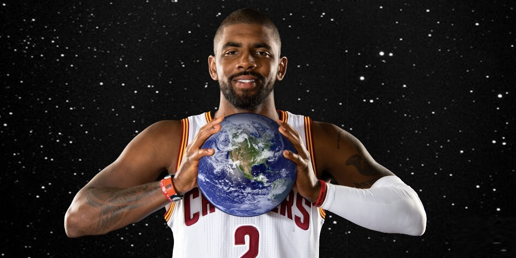 kyrie irving seems unsure on earth is flat comment now 2017