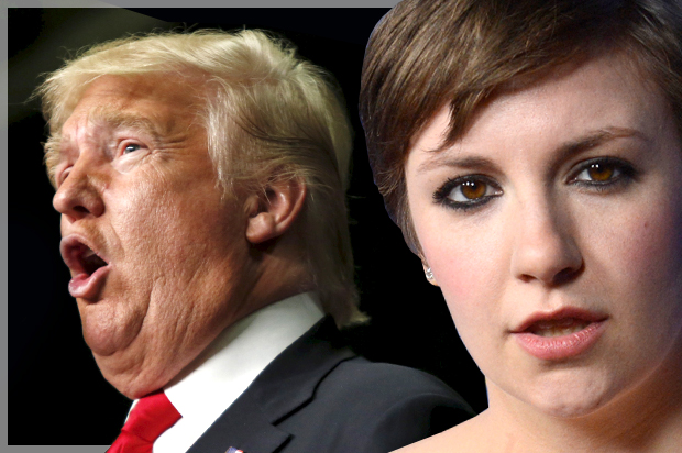 lena dunham donald trump diet