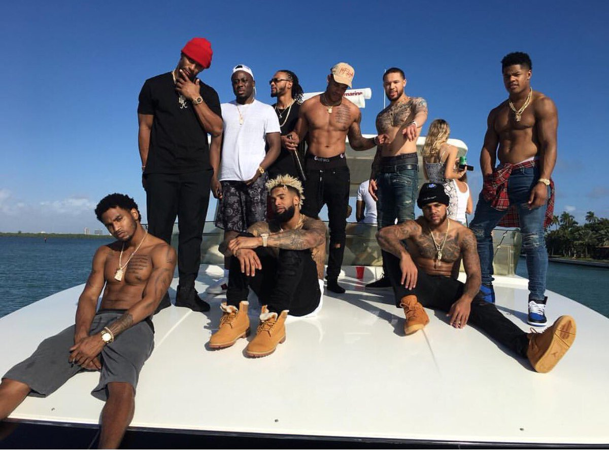 odell beckham jr boat trip talk and lebron james 2017 images