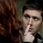 supernatural 1211 rowena touching dean wincheser nose