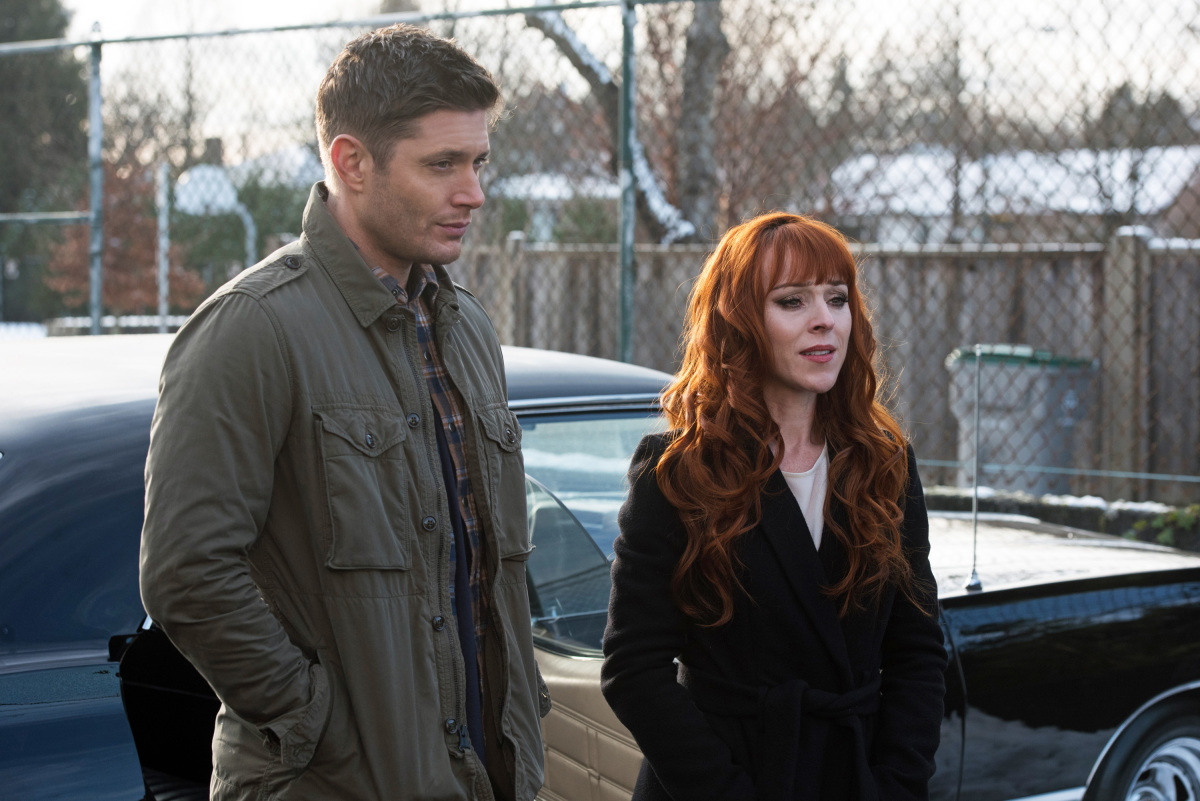 supernatural 1213 crowley rowena bench confrontation