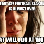 what to do that football nfl season is over
