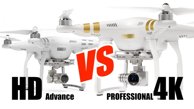 dji phantom 3 advanced vs professional models