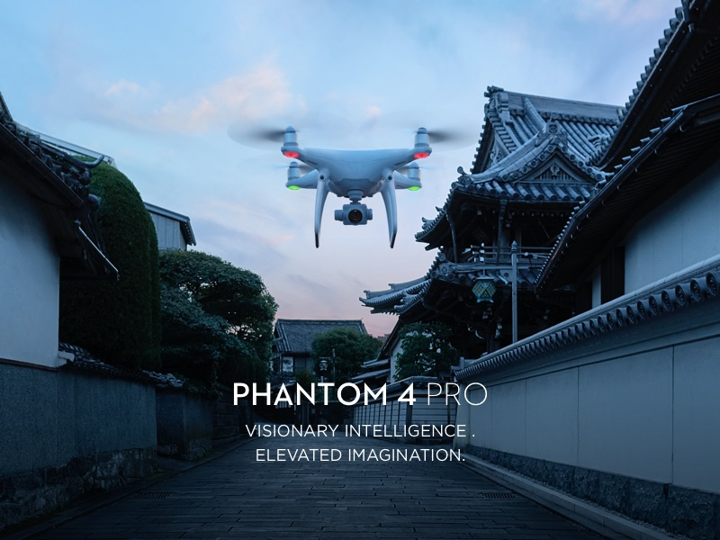 dji phantom pro drone flying
