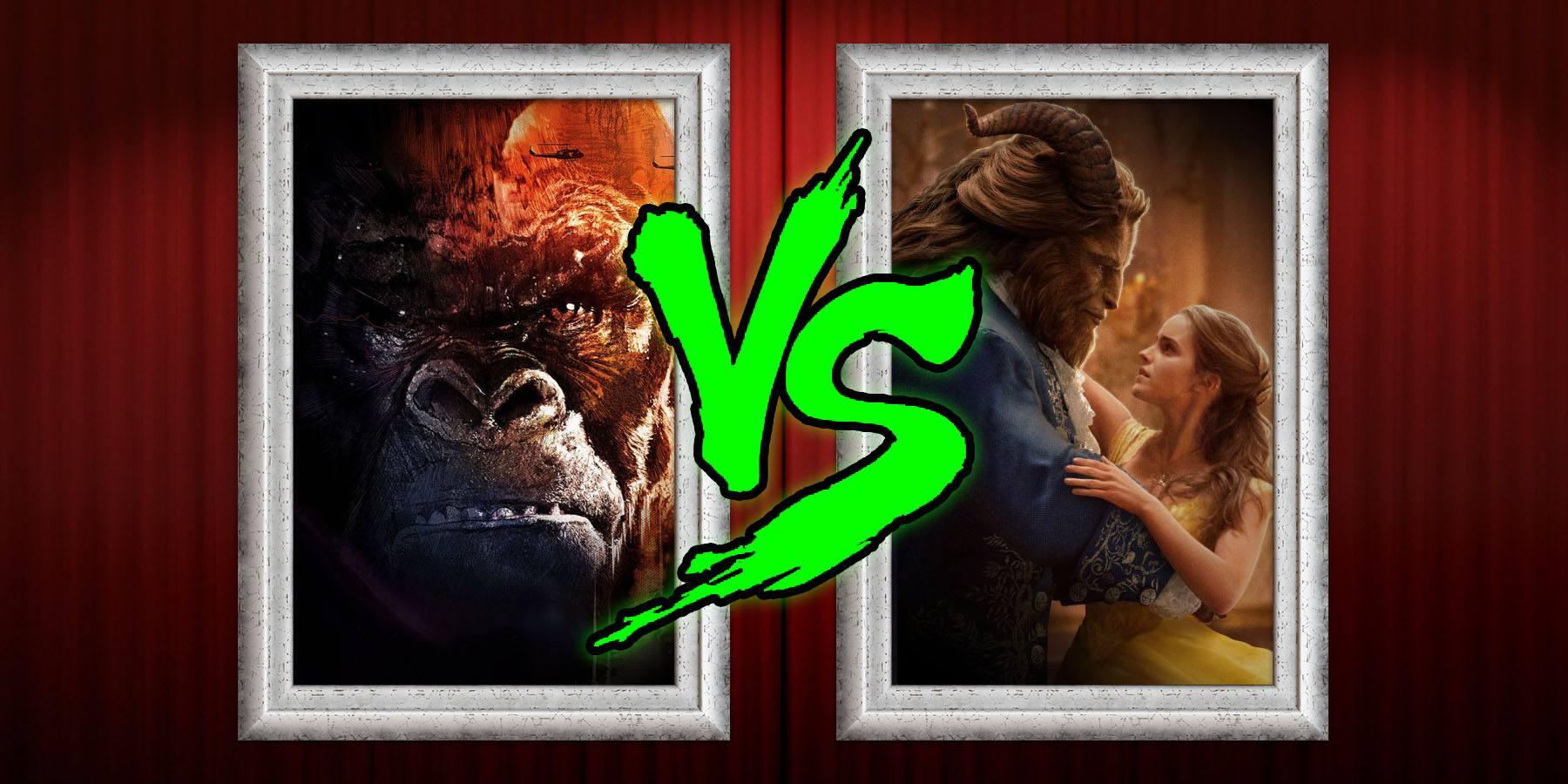 kong skull island vs beauty and beast box office