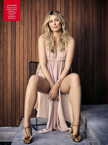 maria sharapova legs spread for vanity fair spain