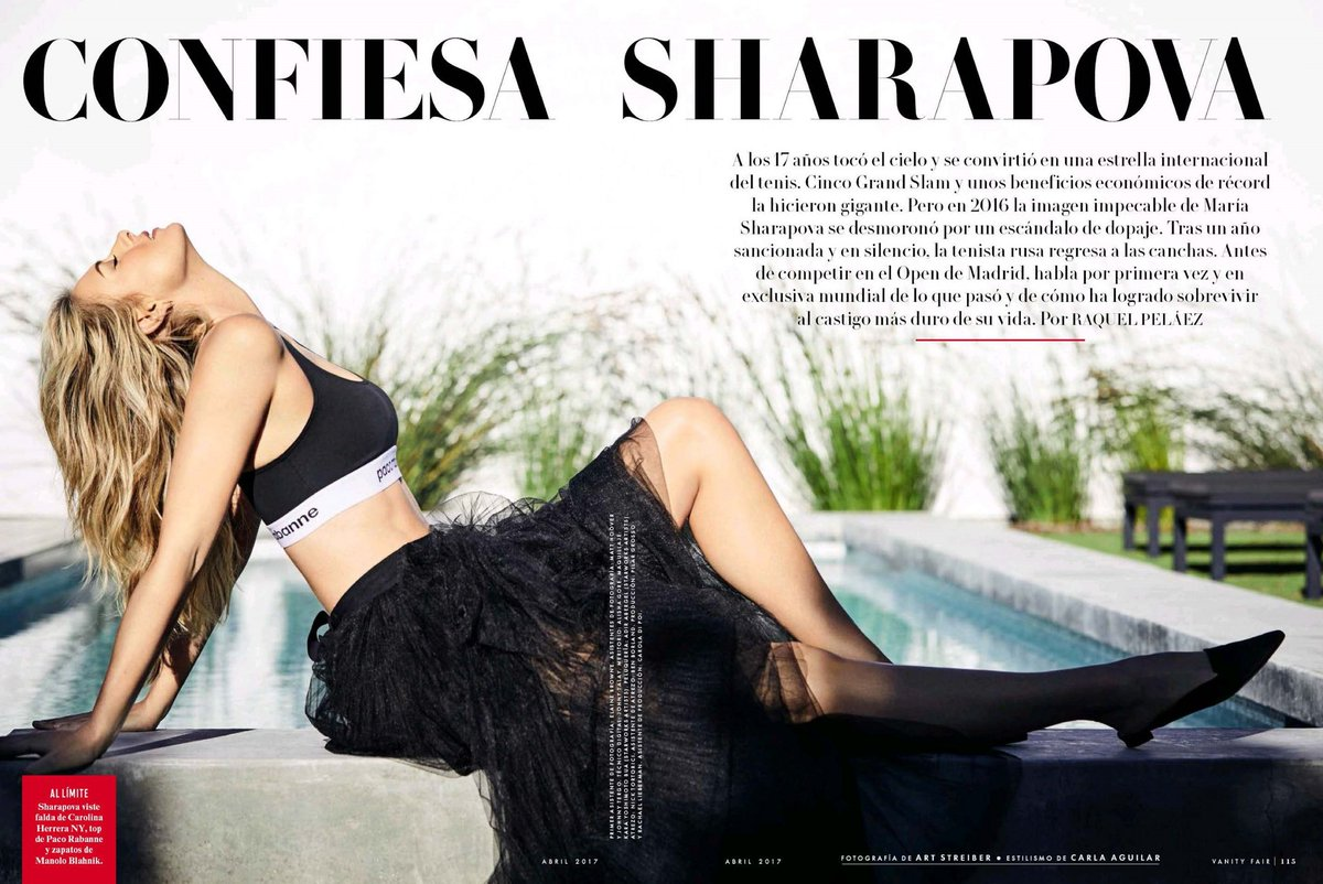 Maria Sharapova on cover of Spain's 'Vanity Fair' for April 2017 images