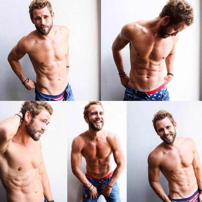 nick viall shirtless bachelor looks