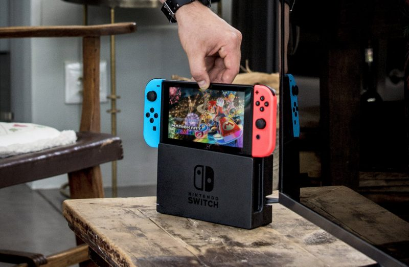 nintendo switch dock with joy cons