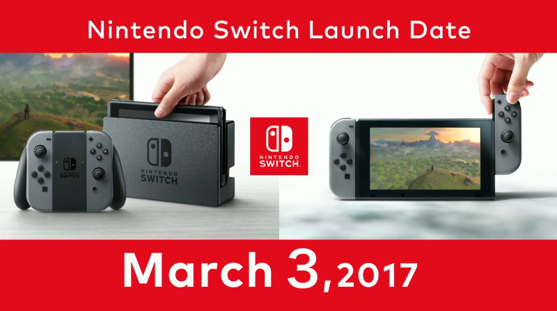 nintendo switch launch date march 2017 images