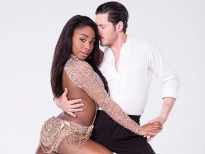 normani kordei with valentin chmerkovskiy dancing with stars