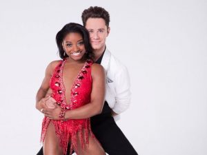 simone biles with sasha farber dancing with stars season 17 cast