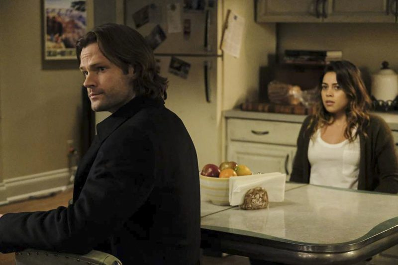 supernatural sam winchester with gwen heaven and hell