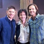 theo devaney with jensen ackles supernatural jared padalecki