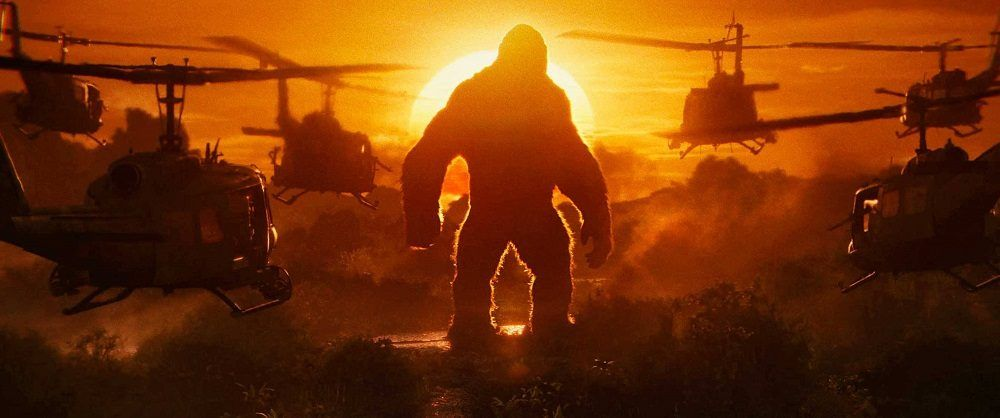 tom hiddleston gets outacted by a gorilla in kong 2017 images