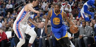 warriors kevin durant knee injury brings back Matt Barnes 2017 images