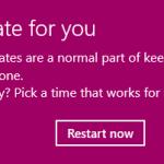 windows 10 update alerts 2017