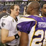adrian peterson joins forces with mark ingram for saints 2017 images