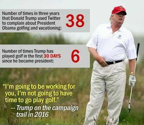 donald trump golf statistics