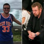 james dolan on his own with new york knick fan fight 2017 images
