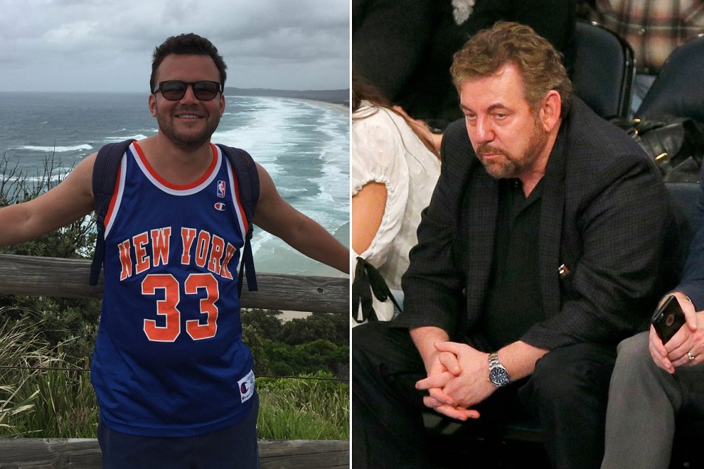 James Dolan on his own with New York Knicks fan fight 2017 images