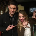 kathryen newton tweet jensen ackles with bloody supernatural mouth clare