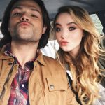 kathryn newton with jared padalecki supernatural kissing