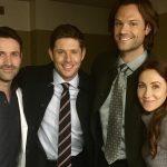 miranda frigon with supernatural cast jensen ackles movie tv tech geeks