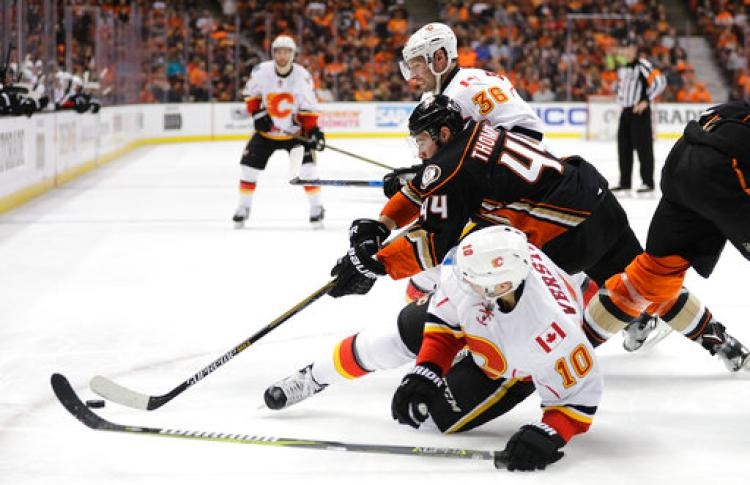 Calgary Flames' Fans Upset over Game 3 Ruling vs. Anaheim Ducks 2017 images