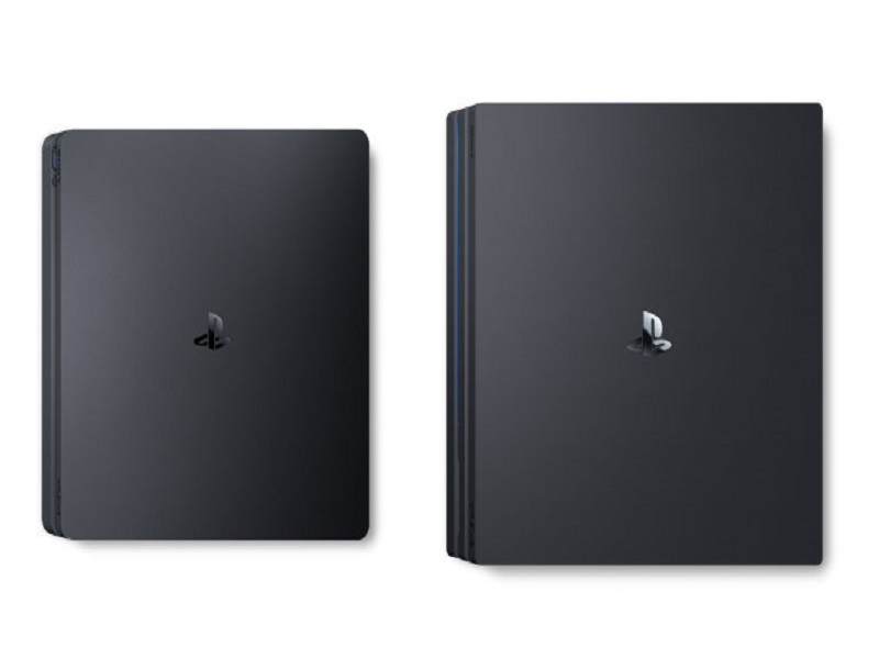 ps4 slim vs ps4 pro consoles sony