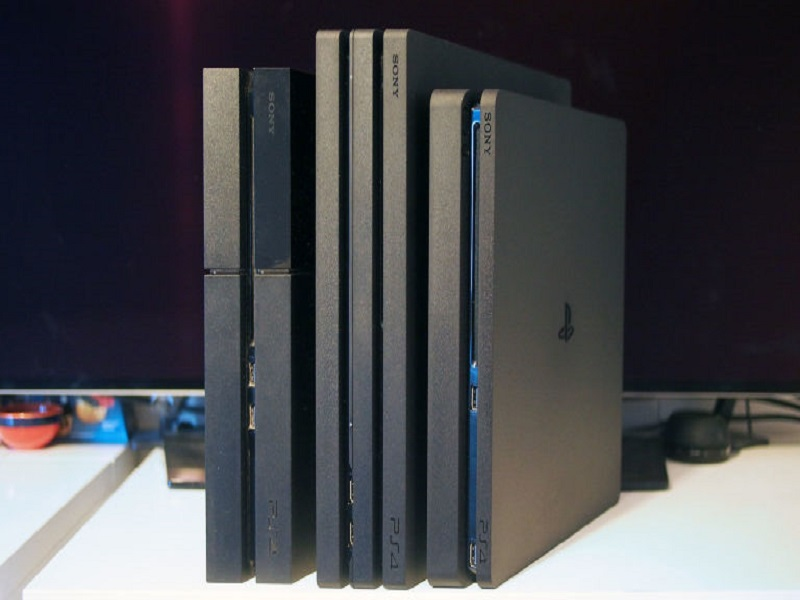 sony ps4 consoles next to each other
