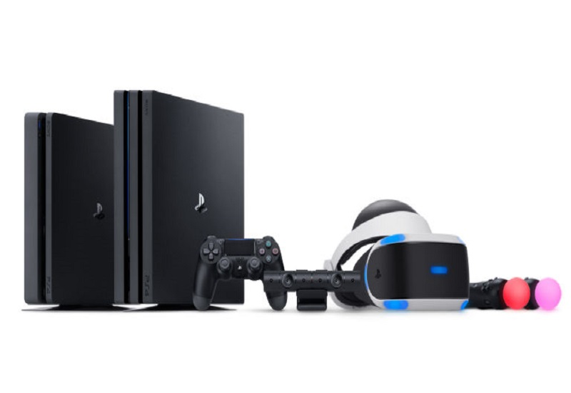 sony ps4 consoles with vr