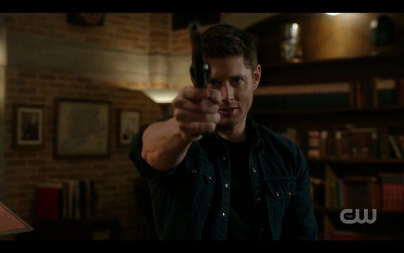 supernatural dean winchester holding colt up