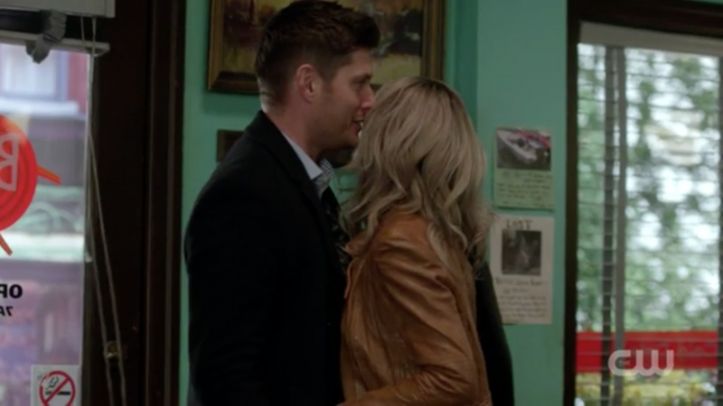 supernatural dean winchester kissing waitress memory remains