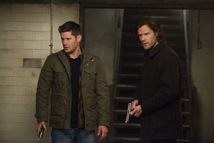 supernatural sam dean winchester with guns memory remains