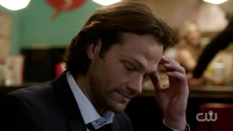 supernatural sam winchester reacts to sam flirting memory remains