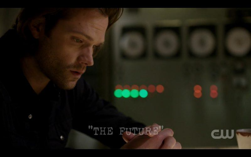 supernatural the future sam winchester begging with computer