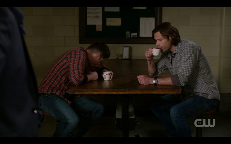 supernatural winchester brothers hungover drinking coffee