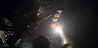 syria feels us 50 missiles blast 2017 images