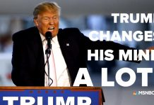 whats up with donald trump constant policy changes 2017 images