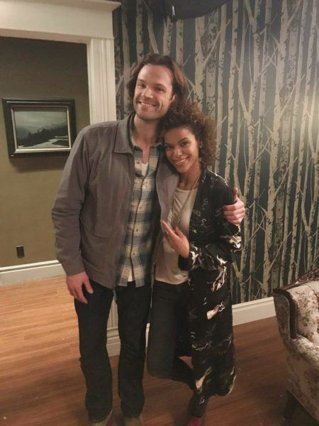 alvina august with jared padalecki supernatural movie tv tech geeks