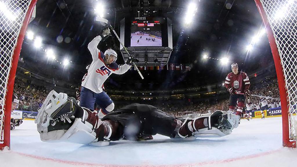 andrew copp helps usa ice hockey team beat latvia