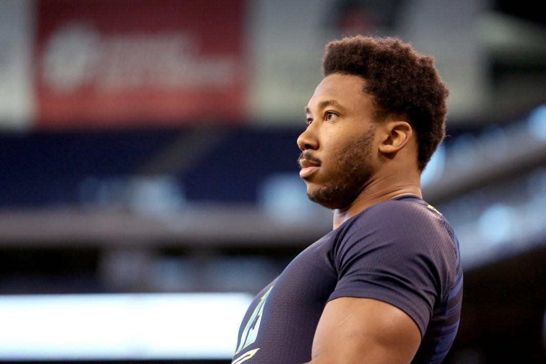 browns myles garrett mysterious injury keeps him off field 2017 images