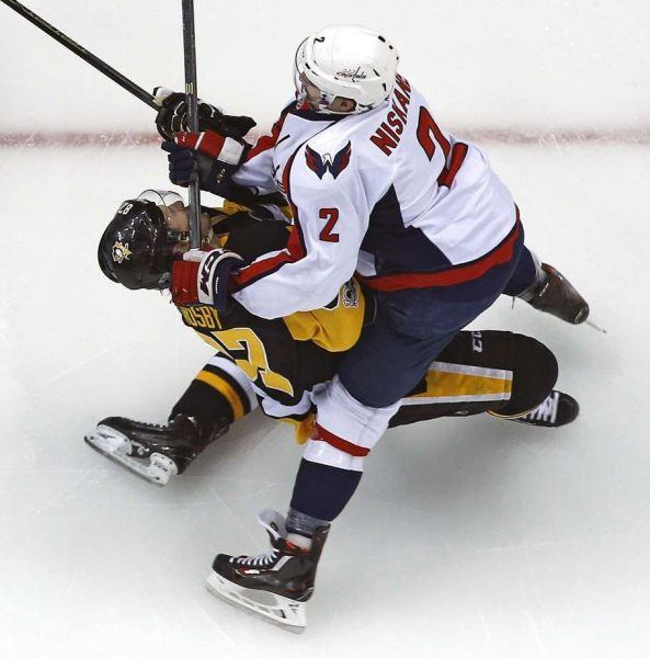 capitals game gives sidney crosby concussion