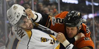 ducks succomb to predators for game 1 stanley cup playoffs 3-2