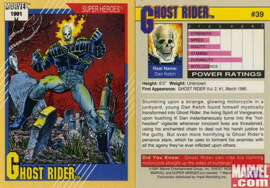 ghost rider marvel 1992 marvel comics