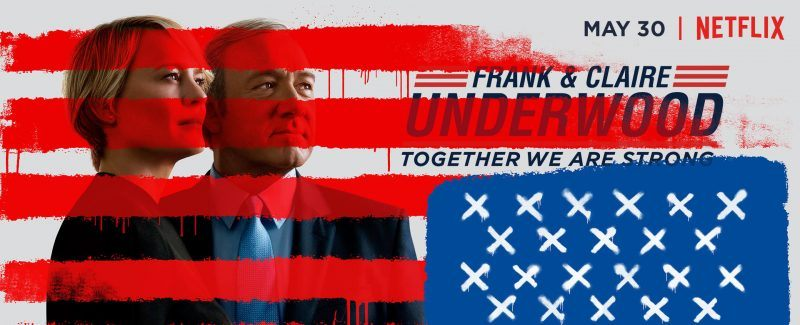 house of cards frank clair underwood american flag