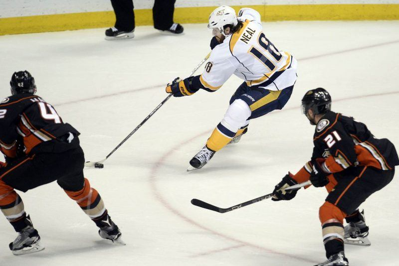james neal winning show for predators vs ducks